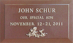 Simplicity with Cherub Bronze Memorial